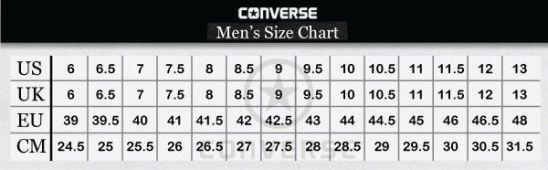 جدول مقاسات الجزم الرجالي