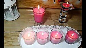 صناعة شمع بالمنزل