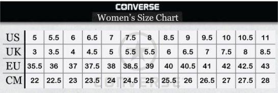 جدول مقاسات الجزم الحريمي